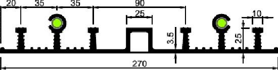 Гидрошпонка АКВАСТОП ДОИ-270/25-4/25 EPDM резина