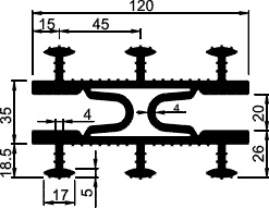 Гидроизоляционная шпонка АКВАСТОП тип ТАРАКАН
